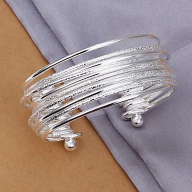 Γυναικεία Χειροπέδες Βραχιόλια Επάργυρο Ασημί Κοσμήματα Για Γάμου Πάρτι Καθημερινά Causal 1pc