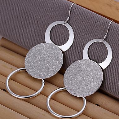 Γυναικεία Κουμπωτά Σκουλαρίκια Ορείχαλκος Ασημί Circle Shape Geometric Shape Κοσμήματα