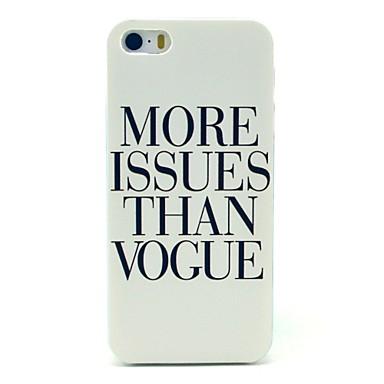 Letter Vogus Pattern Hard Case for iPhone 5/5S