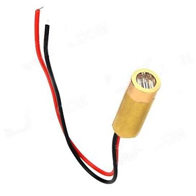3 ~ 5 mW 650nm Cupru Semiconductor laser Dot Diode Set Head - Aur + rosu + negru