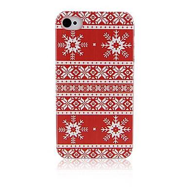 fulg de zăpadă model hard caz înapoi pentru cazurile iPhone iphone4 / 4s