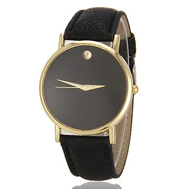 Kadın's Moda Saat Quartz imitasyon Pırlanta PU Bant Minimalist Siyah Beyaz Kahverengi