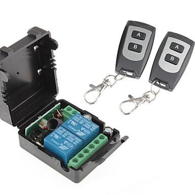 Module de relais de l'alimentation à distance 12V 2-canaux sans fil avec le contrôleur à distance double (DC28V-AC250V)