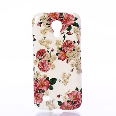 Pink Flowers Pattern Silica Gel Soft Case for Samsung Galaxy S4 Mini I9190