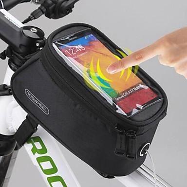 ROSWHEEL Sacoche de Selle de Vélo Sac de cadre de vélo Sac de téléphone portable 5.5 pouce Etanche Zip étanche Ecran tactile Cyclisme pour