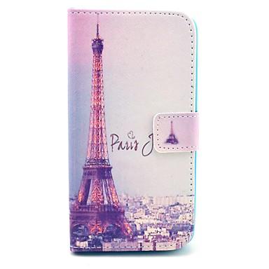 Maska Pentru LG Carcasă LG Titluar Card Portofel Cu Stand Întoarce Corp Plin Turnul Eiffel Greu PU Piele pentru LG G25