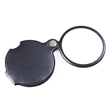 dönebilen pu deri kapağı ile optik lens büyüteç kaplama zw-85034 cep 6x