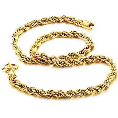 Erkek Zincir Kolyeler - Altın Kaplama, 18K Altın Kaplama Diğerleri Altın