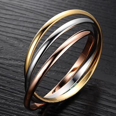 Pentru femei Teak Placat Auriu Brățări Bangle - Design Unic Modă LOVE Auriu/Argintiu Brățări Pentru Cadouri de Crăciun Nuntă Petrecere