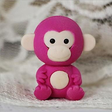 χαριτωμένο μικρό μαϊμού αποσπώμενο σχήμα γόμα (τυχαία το χρώμα χ 2 τεμ)