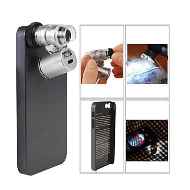 Microscop Mini 60x cu 2 LED-uri iluminare de valuta Detectarea lumina UV pentru iPhone 4/4S (3 * LR1130)