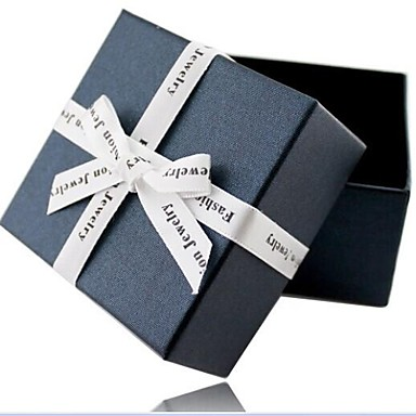 Takı Kutusu Kağıt Sarı / Mavi
