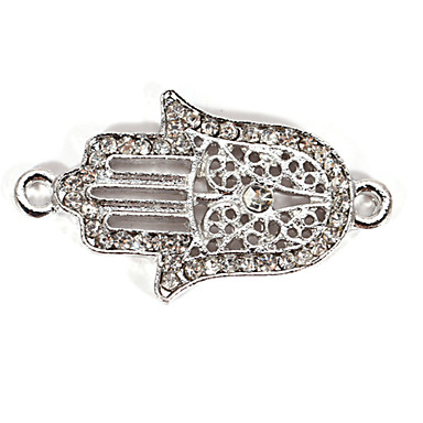 Hollow Rhinestone Hand DIY Charms Pendants for Bracelet & Necklace