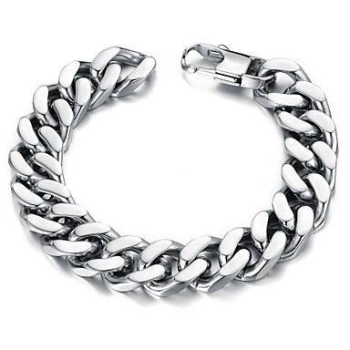 Bracelet ID Acier inoxydable Bijoux Regalos de Navidad Quotidien Décontracté Bijoux de fantaisie Argent