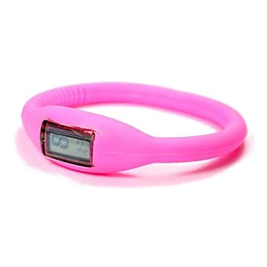 Unisex digitální silikonové kapela náramek hodinky (různé barvy)