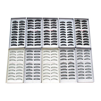 200 pcs natural false eyelashes fake lashes long makeup 3d mink lashes eyelash extension mink eyelashes for beauty