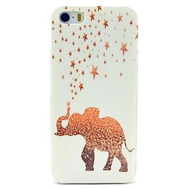 estrelas douradas& caso elefante para iPhone 5 / 5s