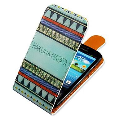 Maska Pentru Samsung Galaxy Samsung Galaxy Carcasă Întoarce Model Carcasă Telefon Linii / Valuri PU piele pentru S3