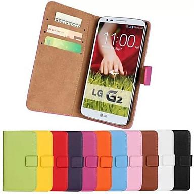 Için LG Kılıf Kart Tutucu / Cüzdan / Satandlı / Flip Pouzdro Tam Kaplama Pouzdro Solid Renkli Sert PU Deri LG LG G20