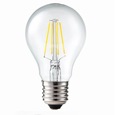 e26 e27 led filament bulbs g60 4 leds cob dimmable decorative warm white 400lm 3200k ac 220 240v. Black Bedroom Furniture Sets. Home Design Ideas