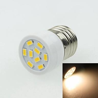 E27 3W 9LED 5730SMD 180-240LM 3000-3500K AC220-240V Spotlight Warm White - White Silver