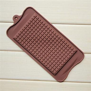 büyük çikolata şekil çikolata kalıpları, silikon 22.5 × 10.5 × 0.5 cm (8.9 × 4.1 × 0.2 inç)