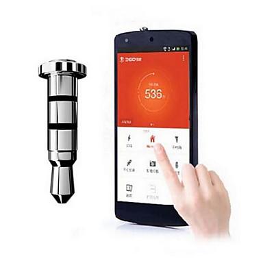 Samsung Galaxy S5 I9600/S4 I9500 için 3.5 mm kulaklık girişi Akıllı Anahtar Kestirme Toz Plug