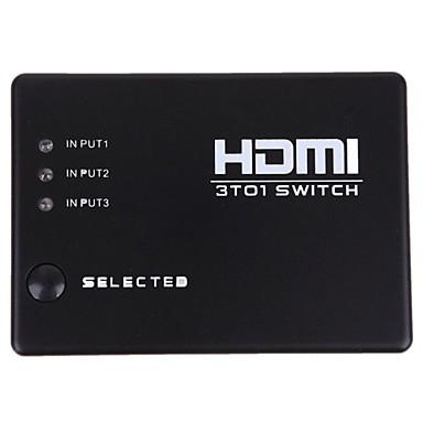 новые 3 порта HDMI аудио сплиттер усилитель видео переключатель переключатель 1080p удаленного сервера