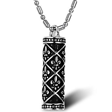 Mücevher Uçlu Kolyeler Parti / Günlük Titanyum Çelik Erkek Gümüş Düğün Hediyeleri
