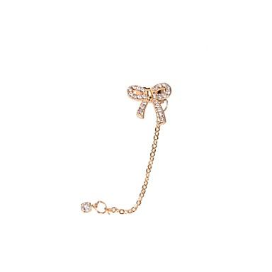 Pentru femei Cătușe pentru urechi Lux Ștras Diamante Artificiale Aliaj Bowknot Shape Bijuterii Nuntă Petrecere Zilnic Casual Sport