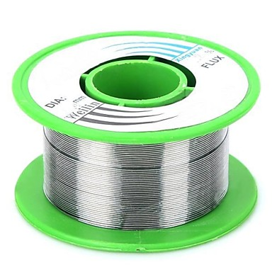 wlxy wl-0410 0,4 milímetros rolo de solda de estanho - prata