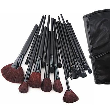 24 Brush Sets Kwast van geitenhaar / Kwast van ponyhaar / Synthetisch haar / Nylonkwast / Paard Gezicht / Lip / Oog Overige
