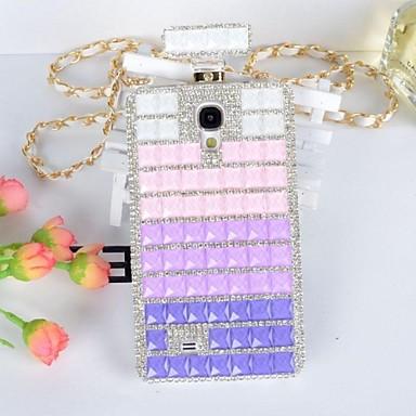 tam mücevherli elmas parfüm samsung galaxy s5 i9600 için kapak davayı geri şişe