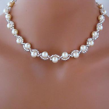 Coliere Colier Lant de rozariu Imitație de Perle Alb Coliere Bijuterii Pentru Nuntă Petrecere Zilnic Casual