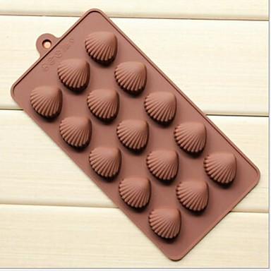 5 delik Xian bei yanık şeklinde pasta buz jöle çikolata kalıpları, silikon 21.5 × 10.5 × 1.8 cm (8,5 × 4,1 × 0,7 inç)