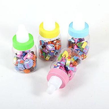 hayvan kauçuk ile yaratıcı şişe (1 set rastgele renk)