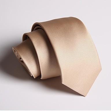 Erkek Parti İş Günlük Polyester Boyun Bağı Solid