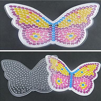 1pcs sjabloon duidelijke pennenbord kleurrijke vlinder patroon voor 5mm hama kralen zekering kralen diy puzzel