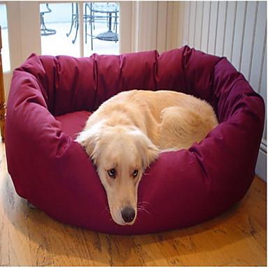 Round Bed suave polar con el patrón de la pata para mascotas perros (colores surtidos)
