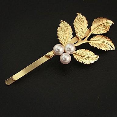 Departamentul sen de stil grecesc de aur retro frunze proaspete de ac de păr