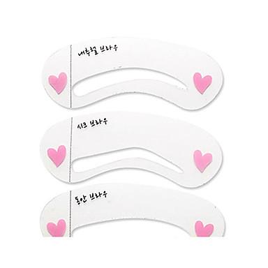 Stencil de Sobrancelha Maquiagem 3 pcs Plástico Rosto Cosmético Artigos para Banho & Tosa