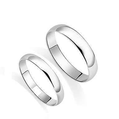 Pentru cupluri Inele Cuplu Argintiu Plastic Argintiu Nuntă Petrecere Zilnic Casual Costum de bijuterii