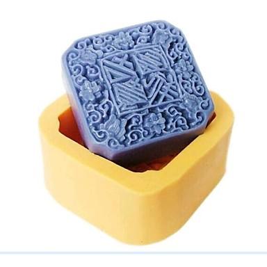 uğuru ay kek fondan kek çikolata reçine şeker silikon kalıp, l7cm * w7cm * h3.2cm