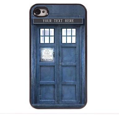 iphone 4 / 4s için kişiselleştirilmiş hediye polis kutu tasarımı metal kasa