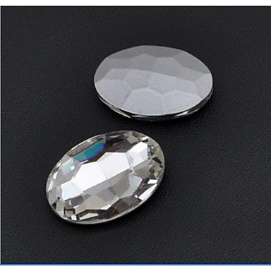 30*20MM Fashion Cellphone Beauty Oval Transparent Acrylic Faceted Sticky Rhinestones Gems(5 Pcs)