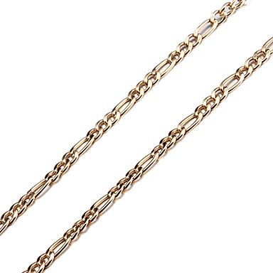Figaro Zinciri Zincir Kolyeler - Gümüş Kaplama, Altın Kaplama Altın Kolyeler Mücevher Uyumluluk Düğün, Parti, Günlük