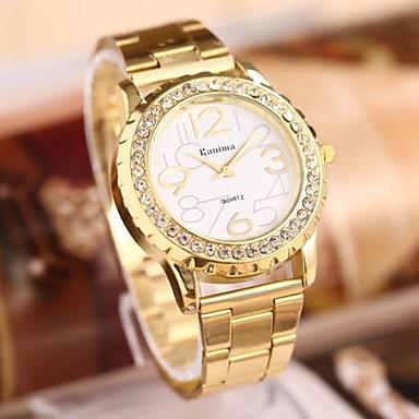 Pentru femei Ceas La Modă Quartz Oțel inoxidabil Bandă Auriu