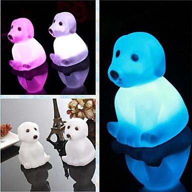 Gece aydınlatması LED Su Geçirmez Batarya PVC 1 Lamba Piller dahildir 8.0*5.0*6.0cm