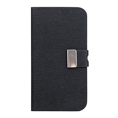 Qianjiatian ® boucle en métal cuir flip manchon de protection horizontale pour iphone4/4s