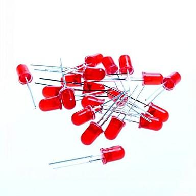 luz azul de 5mm conduziu diodos emissores de luz para teste arduino - vermelho (20 pcs)